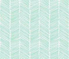 Freeform Arrows Large in jade fabric by domesticate on Spoonflower - custom fabric