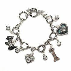 ea5ecddc9 Doggie Love Toggle Charm Bracelet Sterling Silver Bracelets, Bangle  Bracelets, Celebrity Wedding Rings,