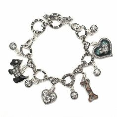 Doggie Love Toggle Charm Bracelet