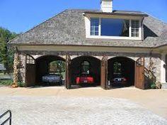 Barn Door Garage, Custom Garage Doors, Toy Garage, Garage Exterior, Custom Garages, Man Cave Garage, Garage House, Garage Shop, Dream Garage