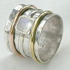 Brava Hammered Silver Ring