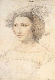 Leonor de Sapata (unfinished), Jean Clouet. 16th century.