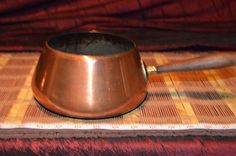 "Vintage Tagus R.67 Copper Pot Made in Portugal 4""x11 1/4"""