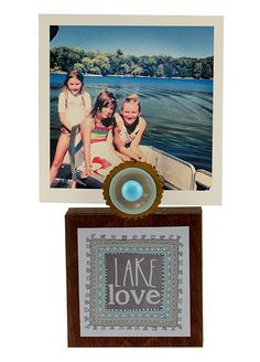 Lake Love Photo Block |Instagram Frame, Handmade Frame, Cute Desk Frame, Clip Frame | Catching Fireflies