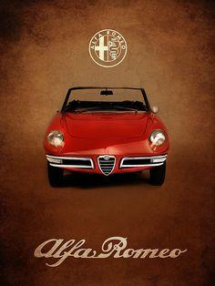 Alfa Romeo Spider Print By Mark Rogan