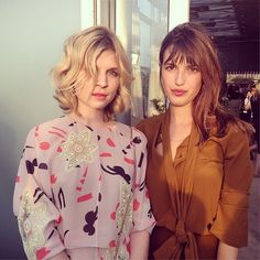 Sassy French ladies, Clemence Poesy and Jeanne Damas in very sassy outfits