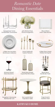 Dining essentials for your romantic date this Valentine's season. Click to shop!
