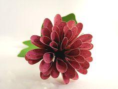 Spiky Dahlia Scrapbook Paper Flower - Easy Paper Crafts