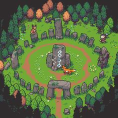Game Background Art, Forest Drawing, Cool Pixel Art, Pixel Characters, 8 Bit Art, Pixel Art Games, Fantasy Setting, Environmental Art, Pretty Art