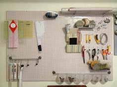Sewing pegboard to organise tools