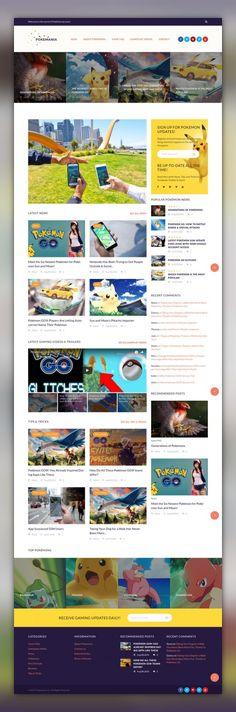 Pokemania - Game Portal Pokemon WordPress Theme CMS & Blog Templates, WordPress Themes, Entertainment, Games & Nightlife, Games Templates, Game Portal Templates