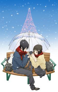 say i love you anime christmas Anime Love Couple, I Love Anime, Me Me Me Anime, Anime Guys, Yamato And Mei, Manga Anime, Say I Love You, My Love, I Loved You First