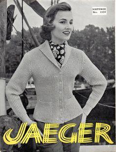 VINTAGE 1950's Jaeger Ladies Thick Cardigan & Sweater by Hobohooks