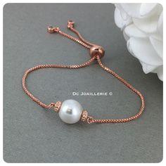 Bridesmaid Bracelet, Wedding Bracelet, Pearl Rose, Pearl White, Rose Gold Earrings, Pearl Earrings, Gold Necklace, Simple Bracelets, Maid Of Honour Gifts