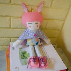 Handmade eco pixie doll with antiallergic by SeedsOfLoveHandmade