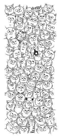 chat ch& cool line drawings! chat ch& cool line drawings! chat ch& cool line drawings! Colouring Pages, Adult Coloring Pages, Coloring Books, Cat Drawing, Line Drawing, Crazy Cat Lady, Crazy Cats, Illustration Art, Illustrations