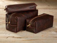 Dark Brown Kamali Leather Toiletry Bag Travel Shaving Dopp Kit with Free Monogram Gift for Man Groomsmen Groom Wedding Grad - 3 Sizes by FelixStreetStudio on Etsy https://www.etsy.com/listing/162537234/dark-brown-kamali-leather-toiletry-bag