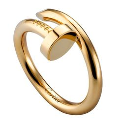 Cartier Yellow Gold Juste un Clou Ring Yellow Diamond Rings, Royal Jewelry, Gold Jewelry, Jewelry Rings, Bangles, Bracelets, Fine Watches, Meghan Markle, Ring Designs