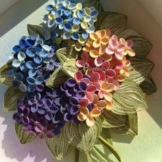Quilled Hydrangeas - by: Anastasiya Bertova