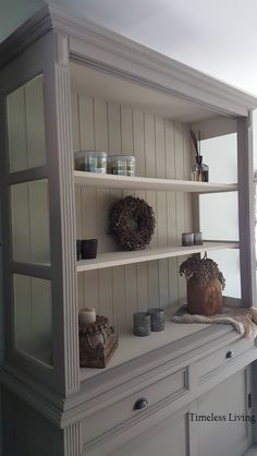 Hutch Redo, Kitchen Hutch, Love Design, Decoration, China Cabinet, Painted Furniture, Bookcase, Shelves, Living Room