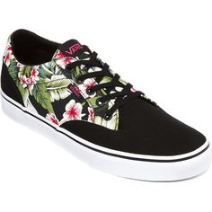 Vans Womens Winston Tropical Sneakers ($50) ❤ liked on Polyvore featuring shoes, sneakers, lacing sneakers, laced up shoes, canvas lace up shoes, canvas shoes and lace up sneakers