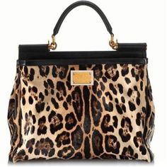 Dolce & Gabbana Medium 'Miss Sicily' Leopard Shopper Tote Dior, Dolce & Gabbana, Fashion Bags, Fashion Accessories, Shopper Tote, Beautiful Bags, Cheetah Print, My Bags, Purses And Handbags
