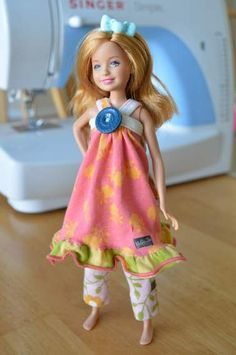 sewing a doll outfit for Barbie's little sis Stacie using an old Matilda Jane dress Sewing Hacks, Sewing Tips, Sewing Ideas, Ken Doll, Daughter Birthday, Perfect Gift For Her, Barbie And Ken, Matilda Jane, Photo Tips
