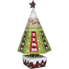 Advent calendar (Christmas Tree),Advent calendars,Calendars,Christmas,Number,Christmas Tree,calendar,party,decoration,reindeer,tree,present,Santa Claus