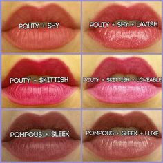 Some of my favorite combinations of lip liner and lip stains by younique! Order today at www.youniqueproducts.com/emmyheinrich