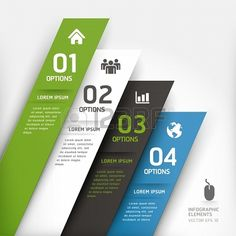 Modern design element template  Vector illustration  can be used for workflow layout, diagram, number options, step up options, web design, infographics  Stock Photo - 19131799
