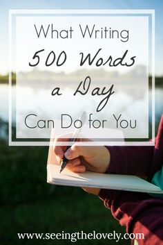 Do you need some writing inspiration? Are you having trouble sticking to your goals? Here's how writing 500 words a day can break your writers block, give you more writing ideas, and help boost productivity in your life!
