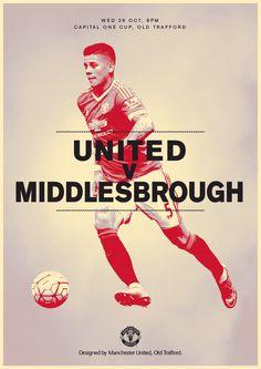Match poster. Manchester United v Middlesbrough, 28 October 2015. Designed by @manutd