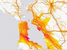 Noise map charts the data of America's aural misery #dataviz #mapping #bigadata
