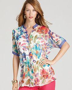 Calvin Klein Floral Tunic