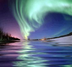 Aurora Borealis, Bear Lake - Alaska