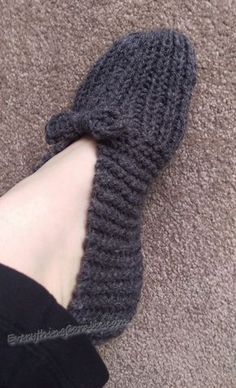 Super fast and easy knit slippers just like granny used to make!