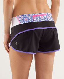 quilted Twiggy Print Speed Shorts