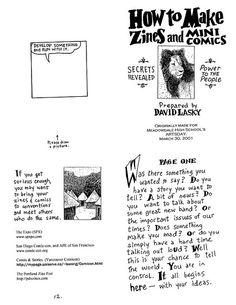 how to make an art zine
