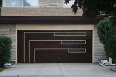 mid century modern garage doors | Mid-century garage door | MidCentury Style. Modern Compliments