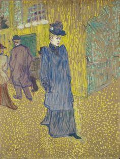 Henri de Toulouse-Lautrec,  Jane Avril Leaving the Moulin Rouge on ArtStack #henri-de-toulouse-lautrec #art