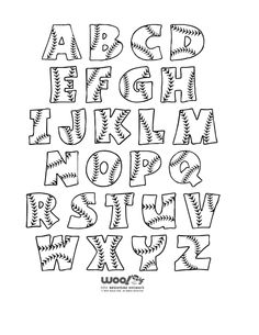 Baseball letters.  I came across these on the web and thought they were great!