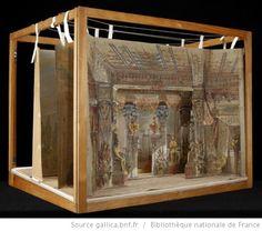 [Aïda : Acte I, tableau 1 : salle du palais du Pharaon : maquette de décor en volume / Emile Daran] - 2