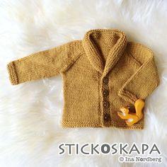 Stickoskapa: Svenskt mönster på bibliotekariekoftan Knitting For Kids, Baby Knitting Patterns, Free Knitting, Eco Baby, Doll Clothes, Knit Crochet, Sewing, Children, Sweaters