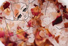 illustration by Akiko Hiramatsu I Feel Tired, Bath Salts, Pretty Flowers, Herbs, Illustration, Beauty, Bath Scrub, Beautiful Flowers, Im Tired