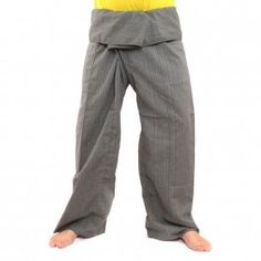 Envuelva pantalones Cottonmix extra larga - gris