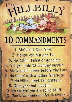 Rules told for God's country.
