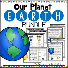 BUNDLE Deal! 4 of my best-selling products on our planet Earth. Bundle includes Rotation & Revolution fact sheets and diagrams, The Reasons for the Seasons (earth's tilt) reading passages, Day & Night reading passages, Our Planet Earth reading passage, and MORE!