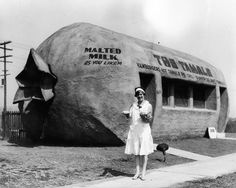 The Tamale restaurant, Whittier Boulevard in East Los Angeles, 1930's.