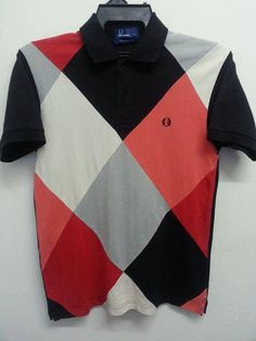 Rare 90s Fred Perry Pacthwork Design Fesyen by SuzzaneVintage