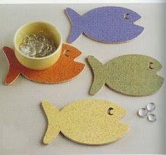 Fishy coasters
